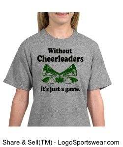 Without Cheer It's just a game t-shirt Design Zoom